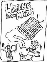 Coloring Mars Waffles Sheets Gaufres Waffle Zum Desenhos Kleurplaat Coloriage Ausdrucken Colorare Colorir Doces Yahoo Waffeln Colouring Vom Pannenkoeken Ausmalbild sketch template