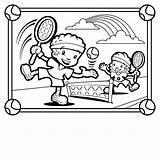 Tennis Coloring Playing Playground Children Printable Dessin Coloriage Sandbox Opslag Jongen Heeft Kleurplaat Kaban Kleurplaten Clipartpanda Recess Template Popular Imprimer sketch template