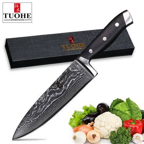 knife chef kitchen steel japanese meat inch knives damascus sharp blade professional cooking vg10 knive germany tool stainless santoku budget