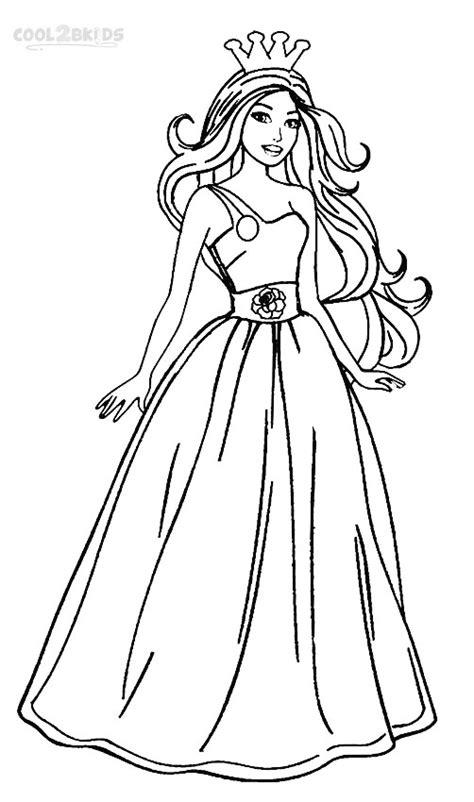 printable barbie princess coloring pages  kids coolbkids