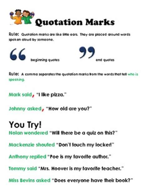 quotation marks corre  dana hoovers creative