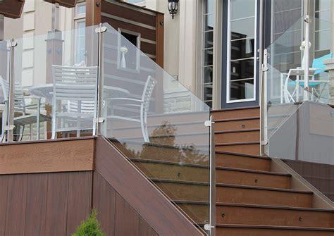 invisirail    glass railing panel mm  deck shoppe