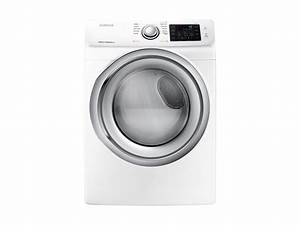 7 5 Cu  Ft  Gas Dryer With Steam In White Dryer