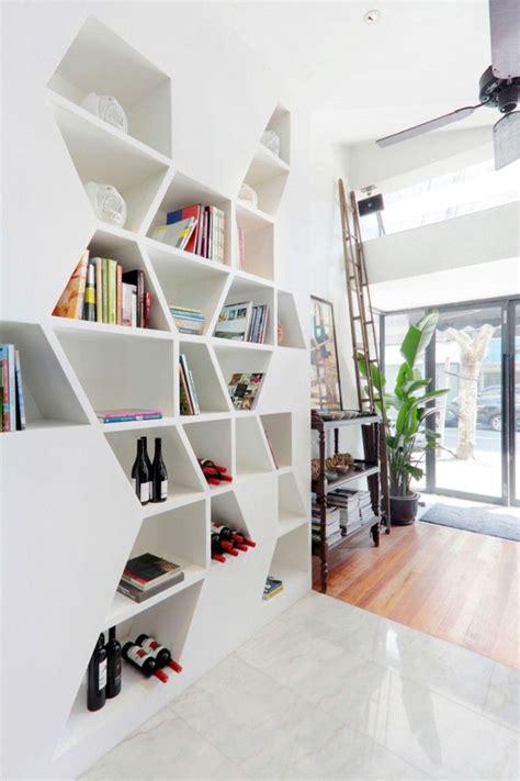 Bookcase Storage Ideas by Geometric Bookcase With Storage Ideas