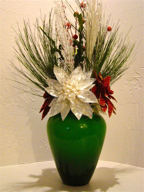 christmas silk floral arrangement  christmas silk