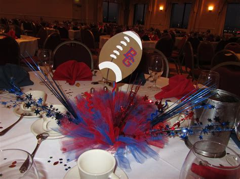 sports centerpieces for tables football banquet centerpiece touchdown pinterest
