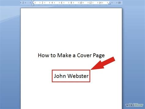 7 ways to make a cover page wikihow