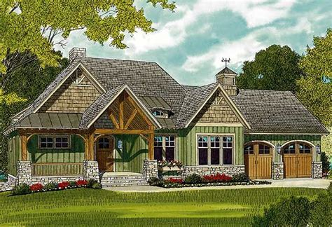 plan lv rugged craftsman home   sloping lot   craftsman style house plans