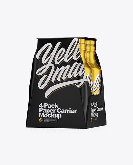 Free ceramic opaque cork bottle mockup psd set. Download Psd Mockup 4 Pack Bottle Carrier Carton Drink ...