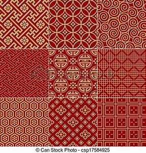 Vector Illustration of seamless chinese background ...