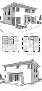 Haus Bauen Ideen Grundriss : stadtvilla neubau modern grundriss mit walmdach ~ Orissabook.com Haus und Dekorationen