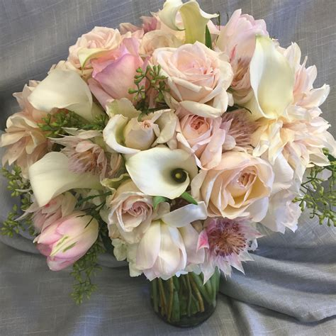 Soft Pastel Wedding Bouquet In Concord Ca Full Bloom