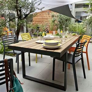 Table Pour Terrasse : table pour terrasse table jardin ikea materiaux naturels champagne ~ Teatrodelosmanantiales.com Idées de Décoration