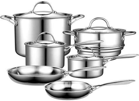 cooks steel stainless clad standard multi ply cookware