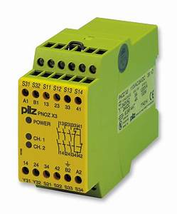 774 X3  110v24v Pilz  Safety Relay  24 Vdc  3pst
