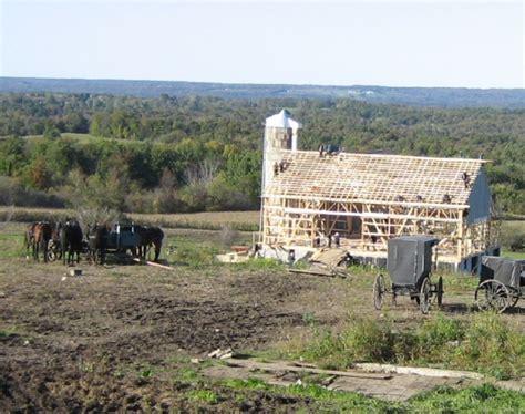 Amish Barn Raising by Ny Amish Barn Raising