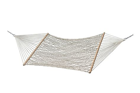 vivere cotton rope double hammock  natural  home depot canada