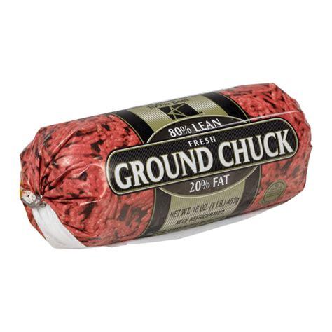 fresh  fine ground beef chuck  lb chubs