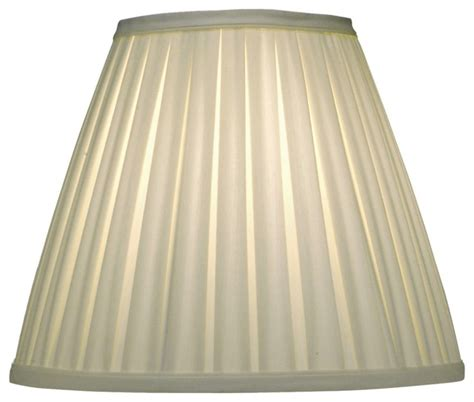 Stiffel Ivory Shadow Pleated Empire Shade 6x12x10 Spider