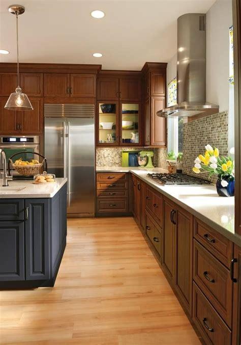 cherry cabinets maple floor w pink orange undertones for contrast kitchens