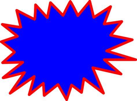 Pow Clipart Blue Explosion Blank Pow Clip At Clker Vector