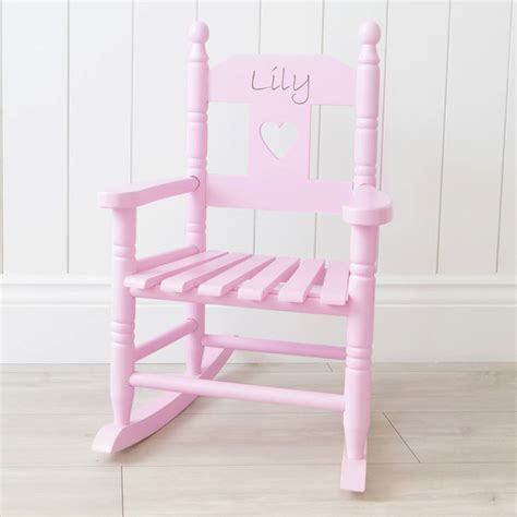 personalised pink children s rocking chair by my 1st years