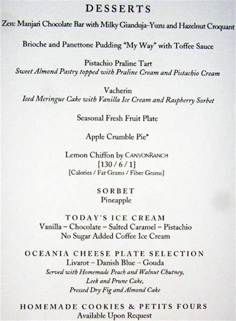 regatta  bermuda menus
