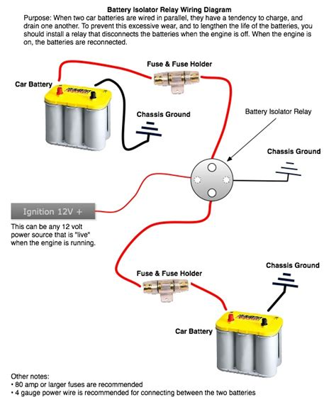 Sure Power Battery Isolator Wiring Diagram by Wiring Second Battery
