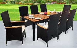 Polyrattan Tisch Höhenverstellbar : polyrattan sitzgruppe 8 1 schwarz gartenm bel gartenset sitzgarnitur neigbare ~ Eleganceandgraceweddings.com Haus und Dekorationen