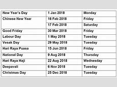Singapore news today WHY ARE PUBLIC HOLIDAYS FOR 2018