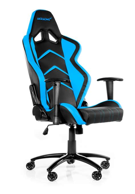 chaise gamer pc akracing player gaming chair blue