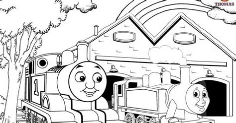 printable railway pictures thomas scenery drawing  coloring train thomas  tank