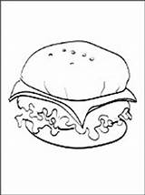 Coloring Cheeseburger Pages Printable sketch template