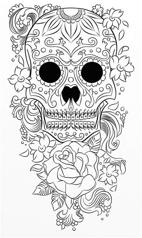 Best Images About Skull Day The Dead Coloring