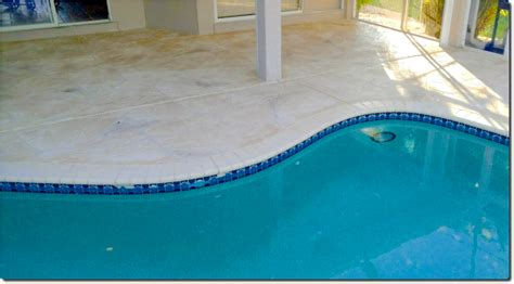 resurface pool deck do yourself decorative concrete curbing fort myers fl driveway