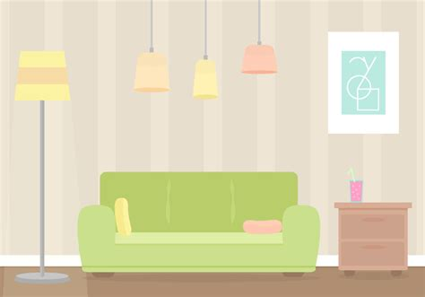 Free Living Room Vector - Download Free Vector Art, Stock