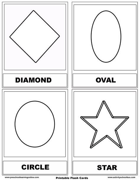 shape flashcards for pre k kids preschool learning online