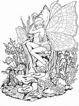 Coloring Fairy Fantasy Forbidden Adult Ausmalbilder Colouring Adults Printable Ausmalen Coloringsky Zum Feen Sky Erwachsene Mandalas Fuer Sheets Malbuch Drawings sketch template