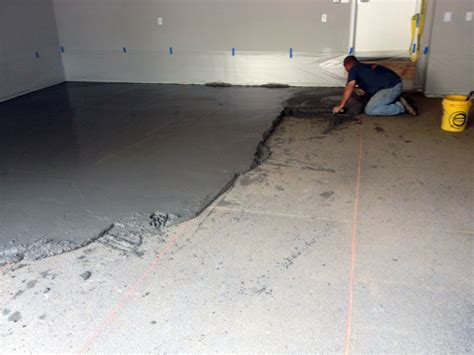 fixing  poorly sloped concrete floor  drainage
