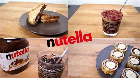 recette facile a faire dessert 5 recettes nutella rapide et facile