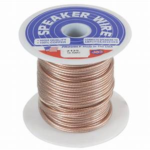 Jsc Wire Speaker Wire Cable 18 Awg Clear 50 Ft  Usa