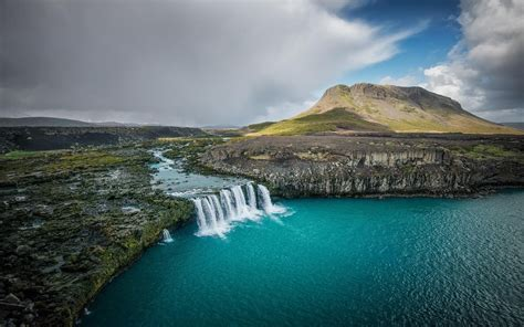 Landscape Nature Waterfall Iceland River Mountain