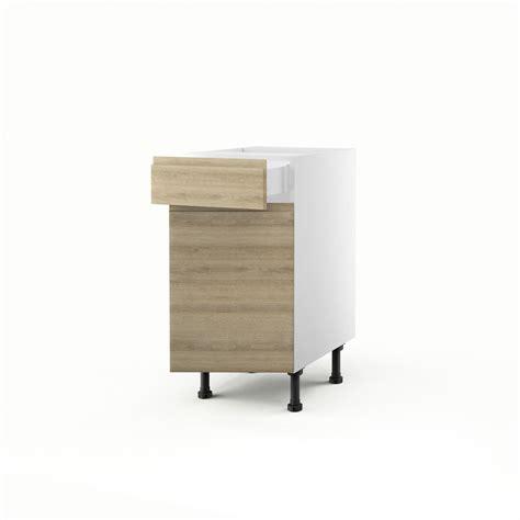 tiroir cuisine leroy merlin meuble de cuisine bas chêne blanchi 1 porte 1 tiroir