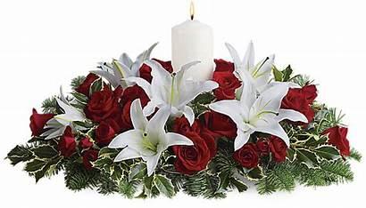 Flowers Teleflora Centerpiece Winter Lilies Luminous Seasonal