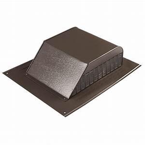 Master flow 10 ft aluminum ridge vent in black ar10bl for Cupola vent