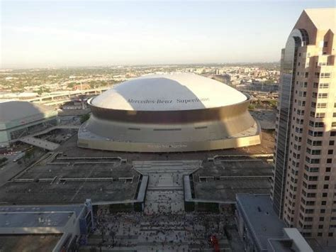 view of superdome from 32nd floor picture of hyatt regency orleans orleans tripadvisor