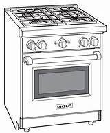Gas Wolf Drawing Stove Range Oven Inch Coloring Template Sketch Drawings Appliances Freestanding Burner Disclaimer sketch template