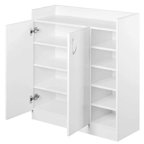 Storage Cupboard by Buy Artiss 2 Doors Shoe Cabinet Storage Cupboard White