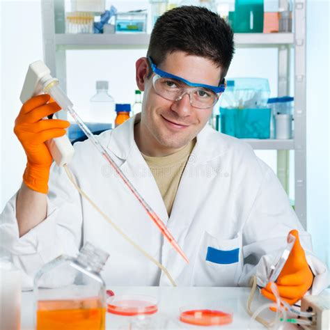 Young Cell Biologist Working Stock Image - Image of cell ...