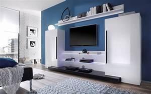 Moderne Wohnwand Hochglanz : wohnwand wei schwarz hochglanz ~ Sanjose-hotels-ca.com Haus und Dekorationen